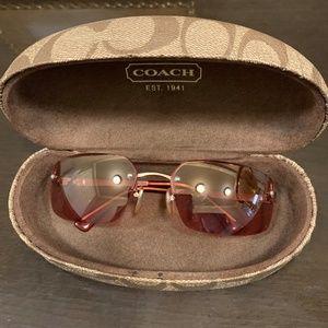 Coach Sunglasses Julia in Pink w/ Flash Lenses